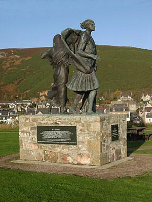The Emigrants monument, Helmsdale